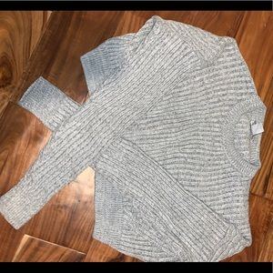 urban outfitters cropped gray knit sweater